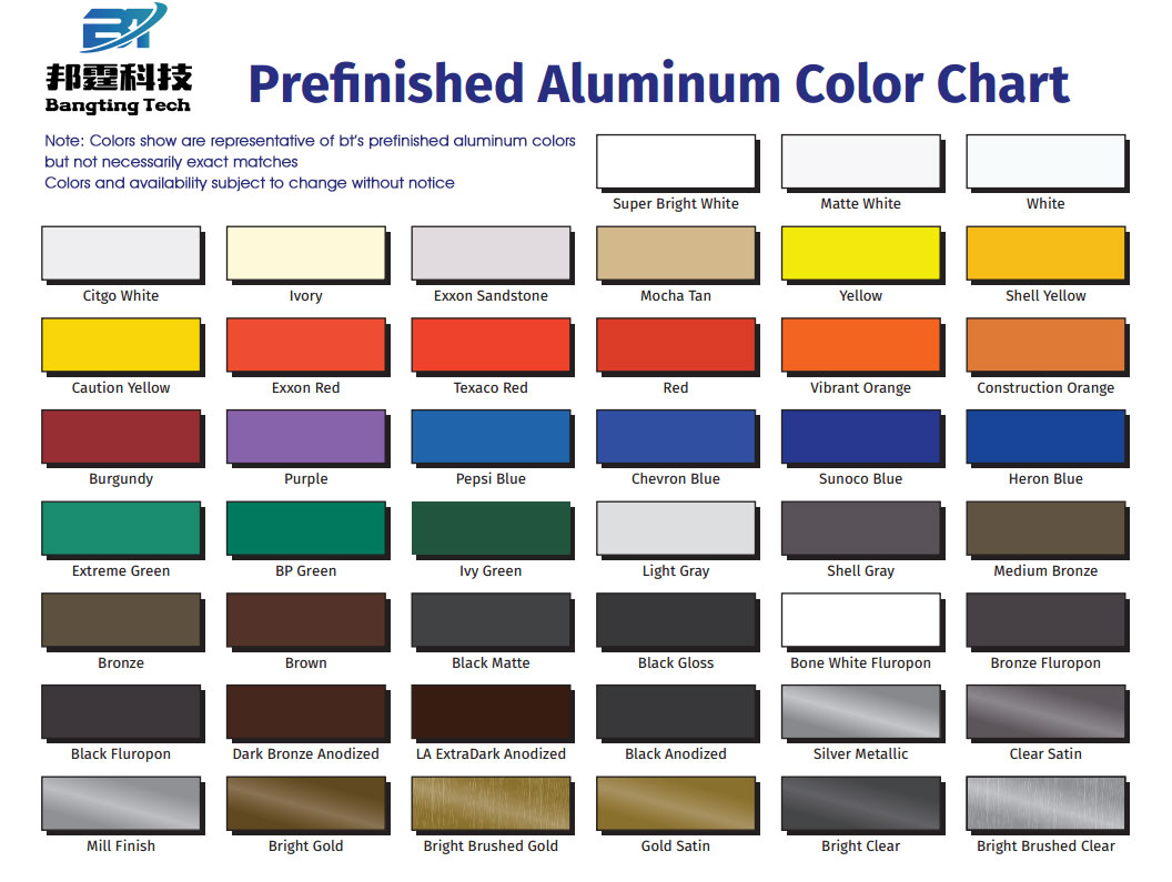 Colors of PE Color Coated Aluminum Coil